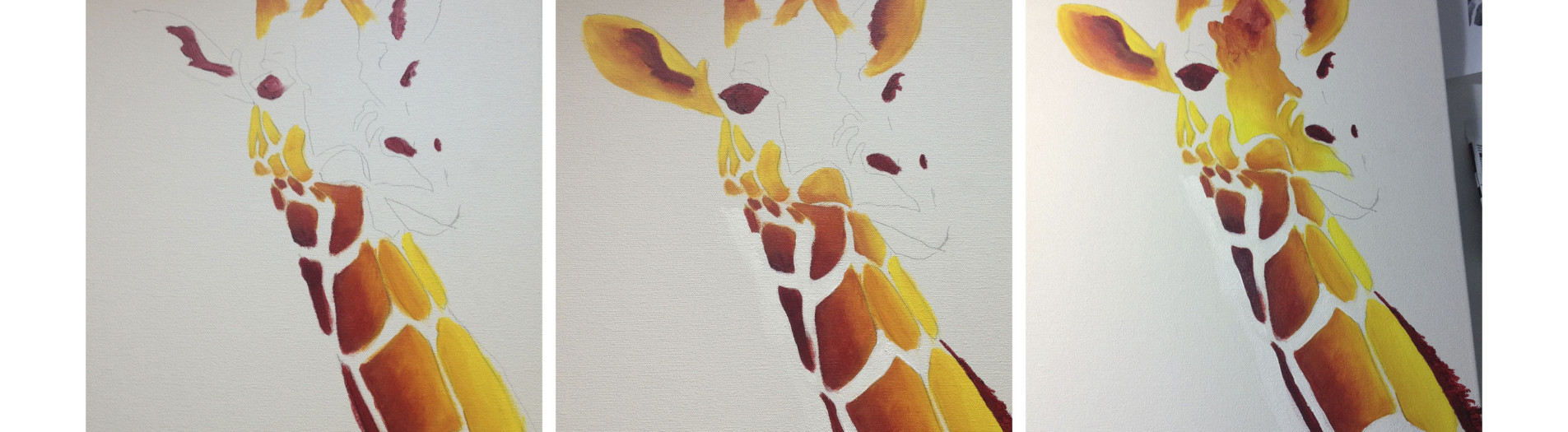 Giraffe Painting - Step by Step