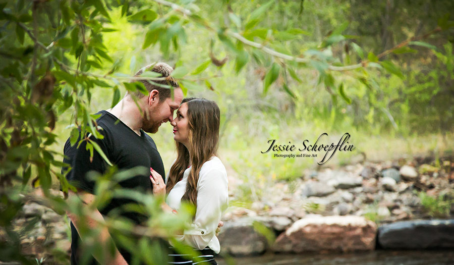 Tori and Josh - Engagement by the River - Jessie Schoepflin Photography