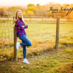 senior-fence -fall-sunset