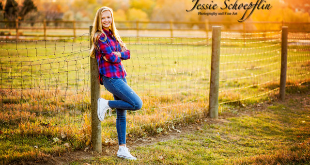 Fall Senior Pictures - Megan at Majestic View Park